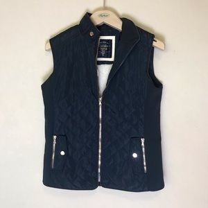 Cavalini Navy Blue Winter Vest with faux sheep